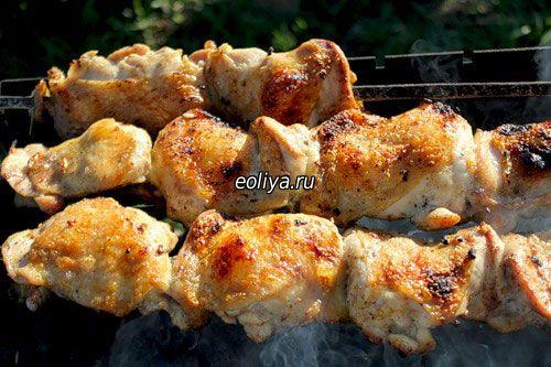 Как сделать куриный шашлык с горчицей